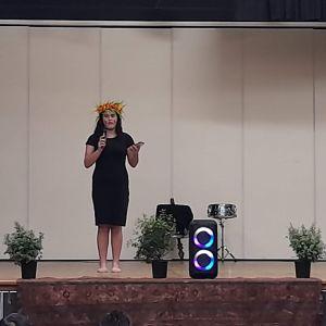 Molly Bullock - English speech (photo taken Fiafia night).