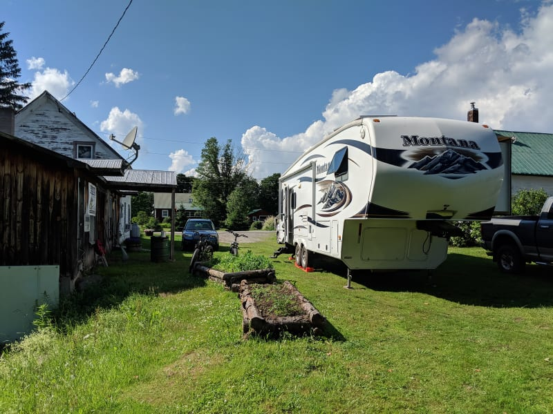 rv parked in driveway