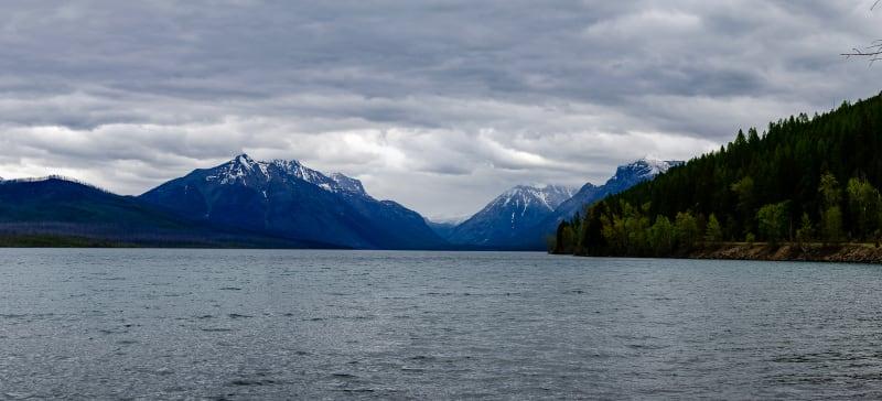 panorama of lake mcdonald