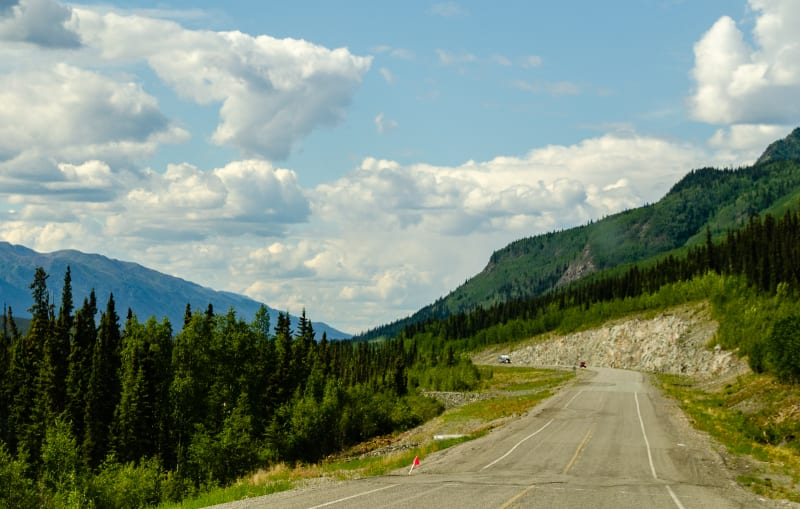 a rough section of the alaska highway