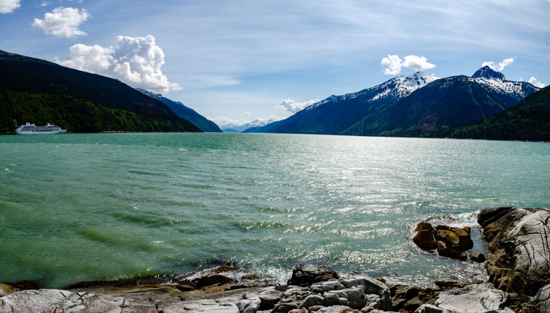 view of the harbor from skagway