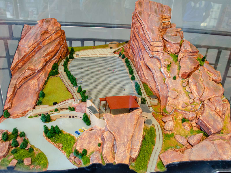 a model of the amphitheatre
