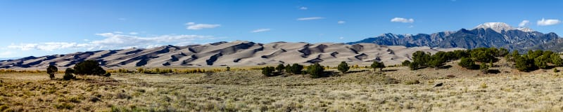 panorama of the dunes