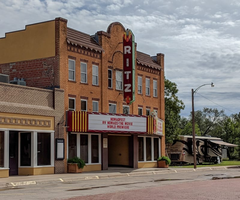 ritz theatre showing the rv nomads movie