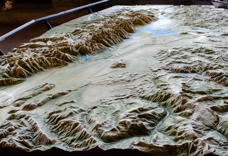 a relief map of grand teton national park