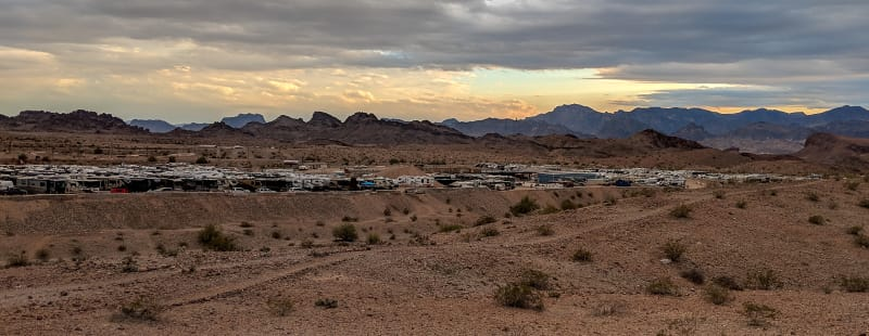 a large number of rvs parked at the rodeo grounds