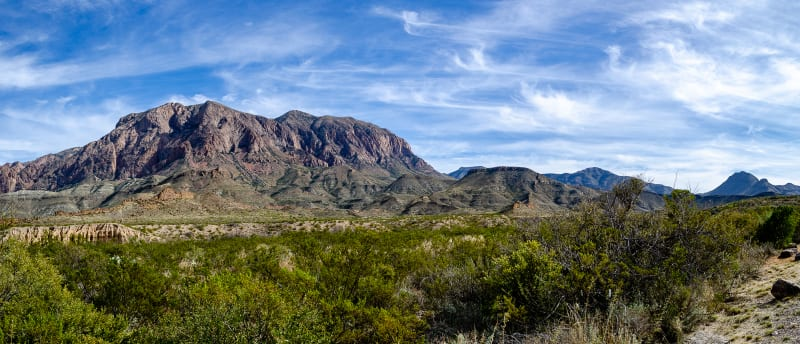 the western side of the chisos mountains