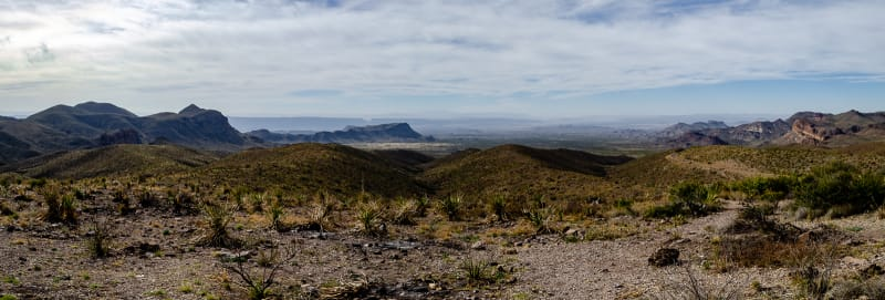 a panoramic view from sotol vista