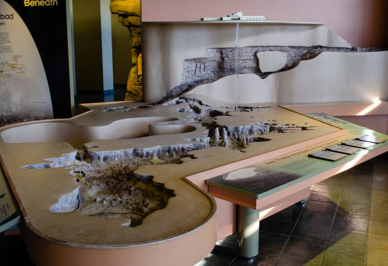 a model of the caverns