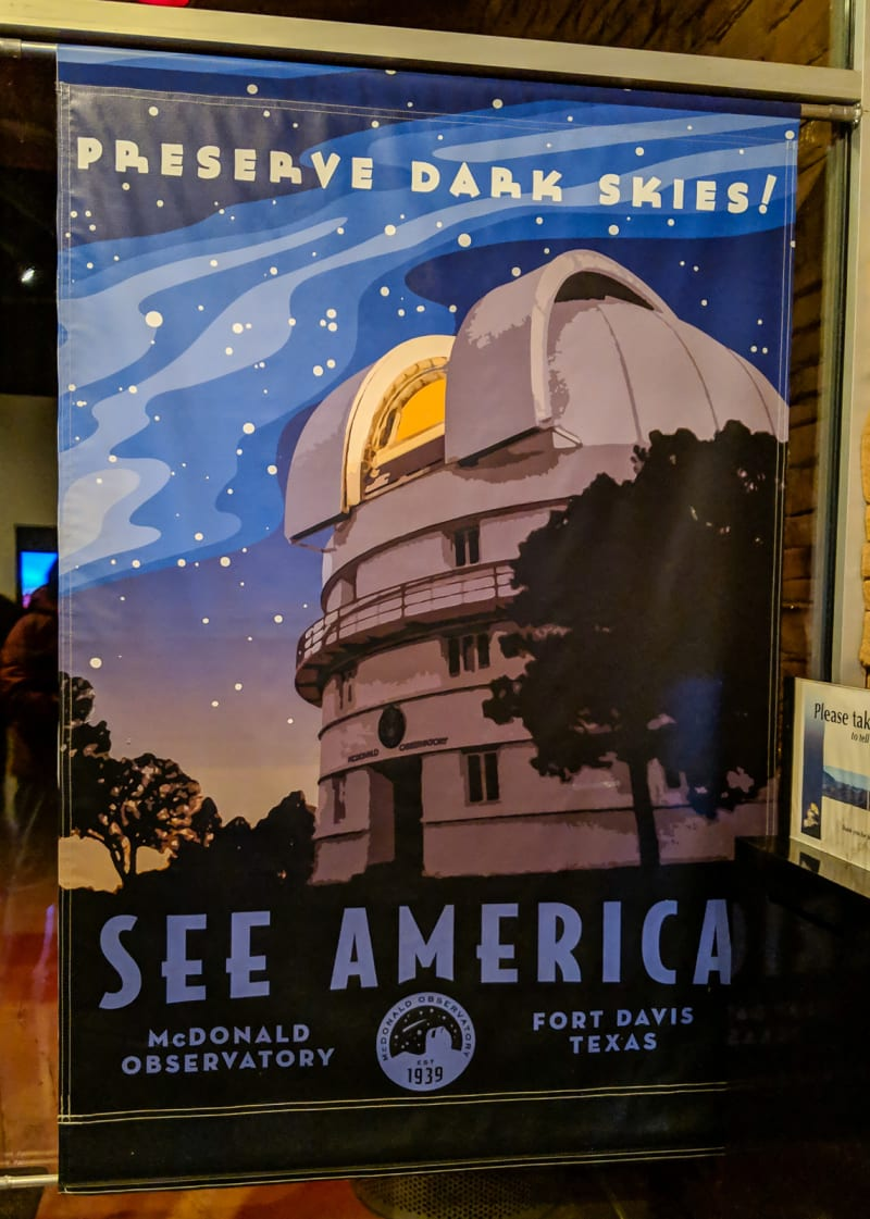 a sign for mcdonald observatory