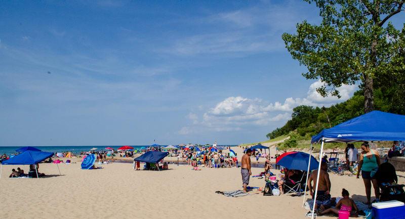 beach at indiana dunes