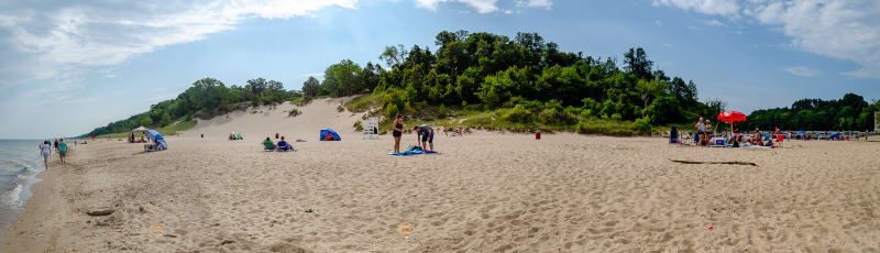 panoramic view of the dunes