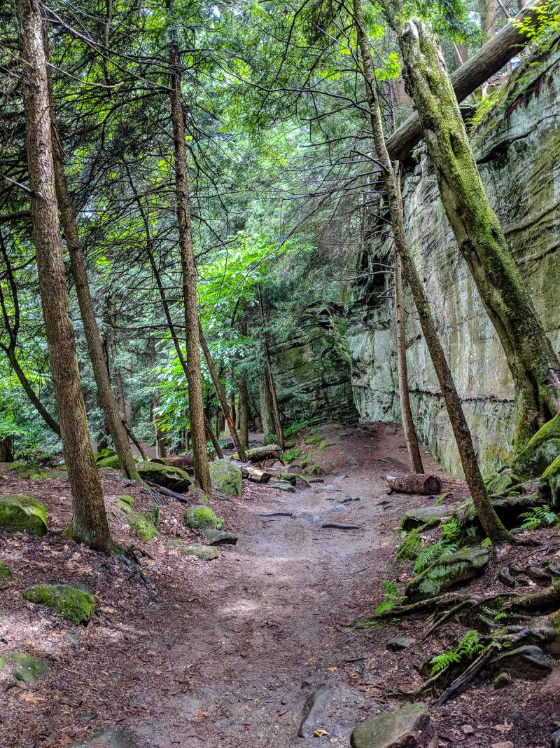path along rock edge