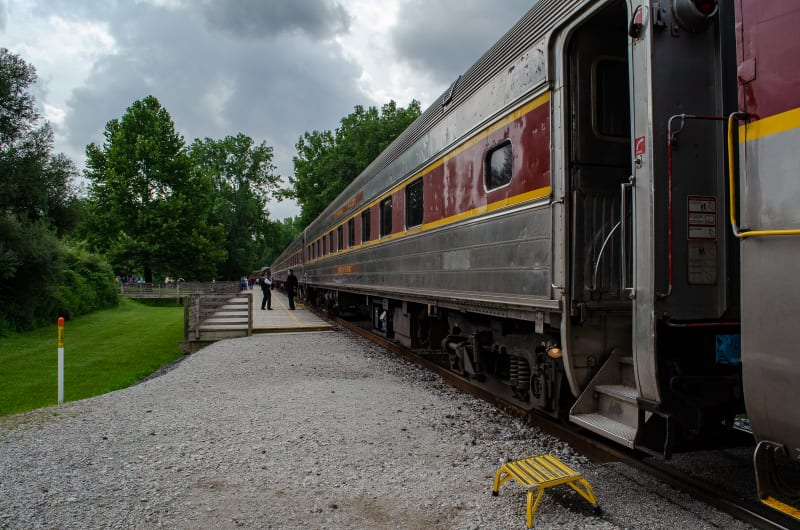 the cuyahoga valley scenic railroad train