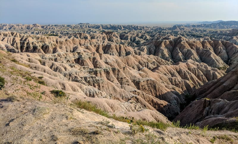 expansive view of the badlands