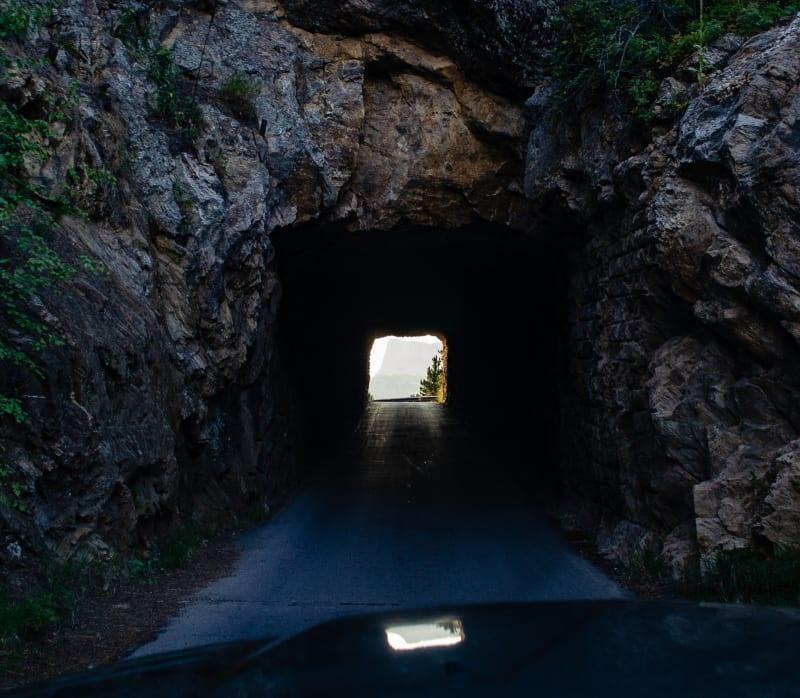 tunnel on iron mountain road