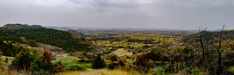 panorama of theordore roosevelt national park