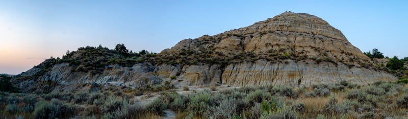 badland formation in painted canyon