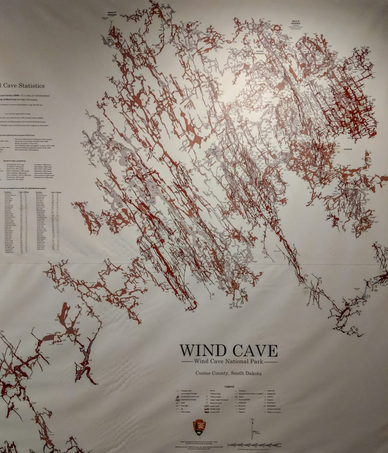 map of wind cave