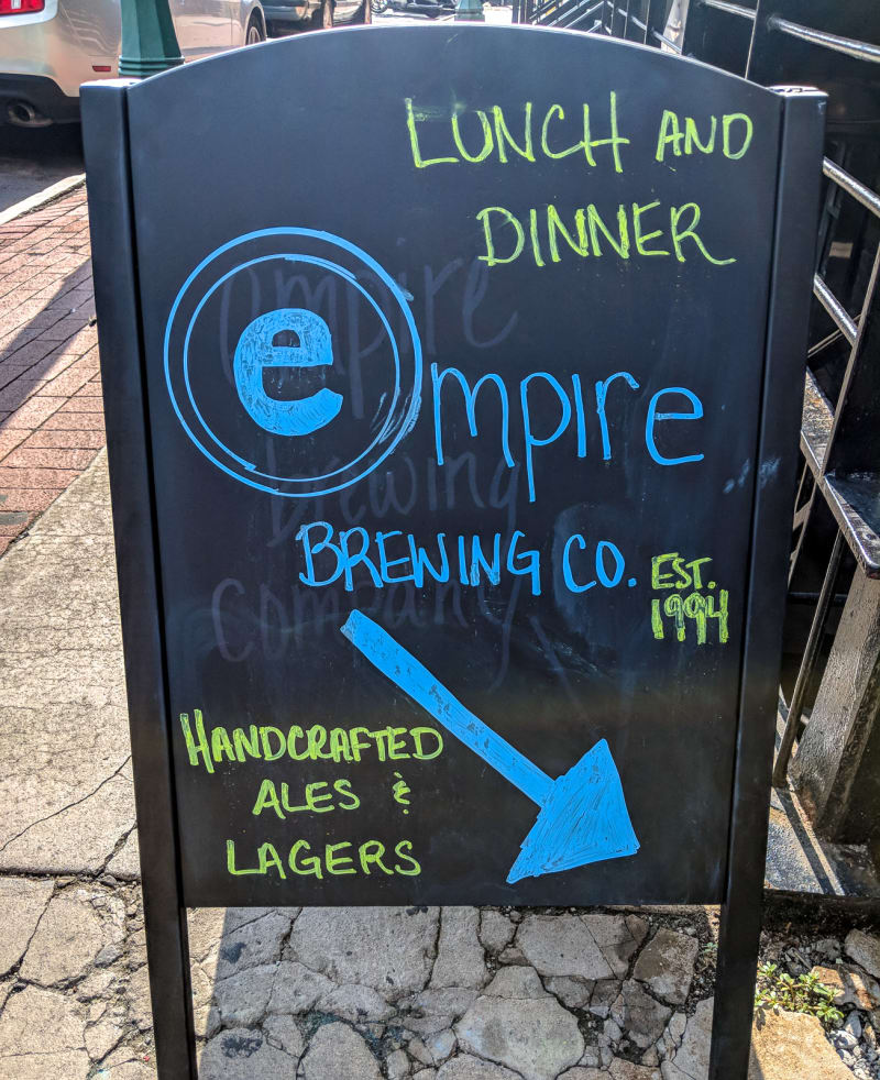 empire brewing company sign