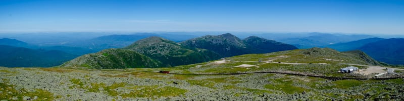 panoramic view from the top of mt washington