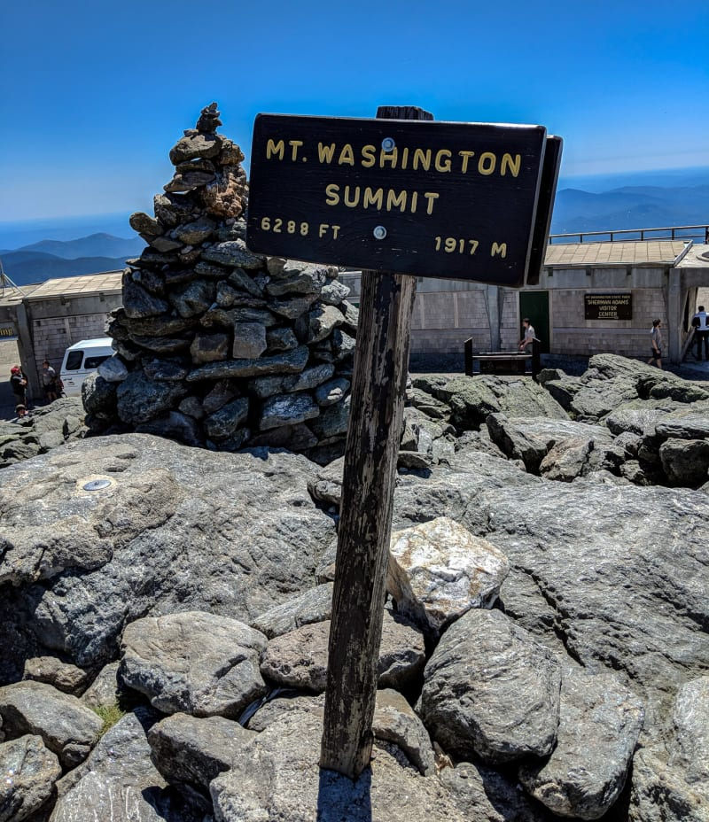the sign at the summit of mt washington
