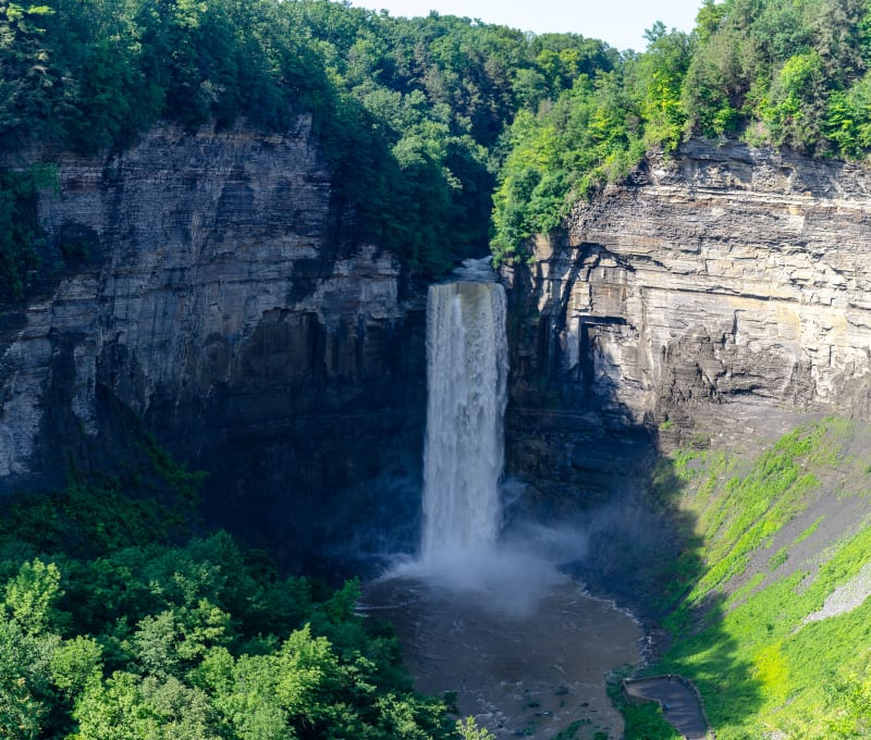 view of taughannock falls from the top