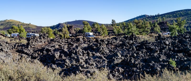 the campground at craters of the moon