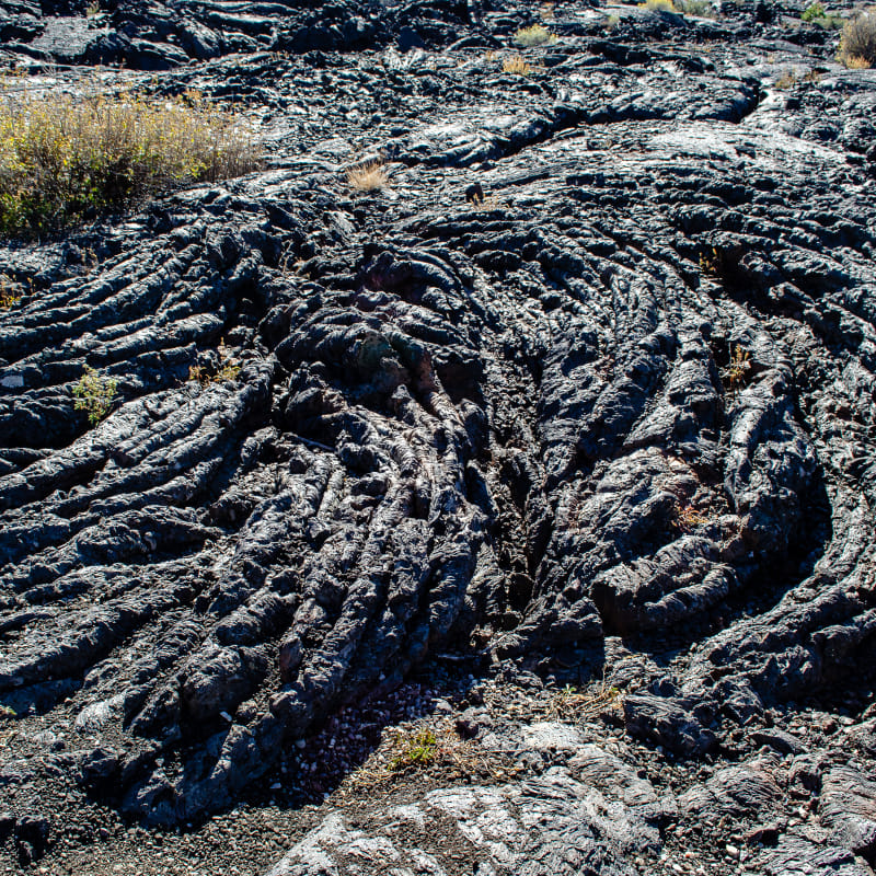 an example of pahoehoe lava which is smooth and flowing