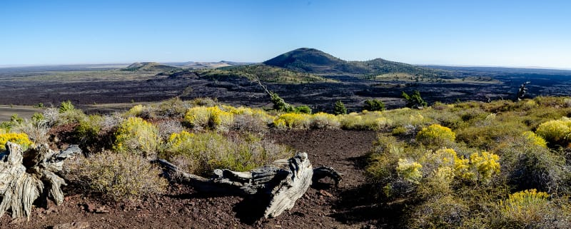 panoramic view from the top of inferno cone