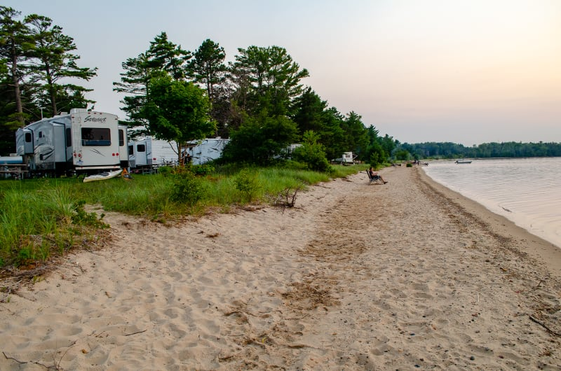 beach at munising tourist park campground