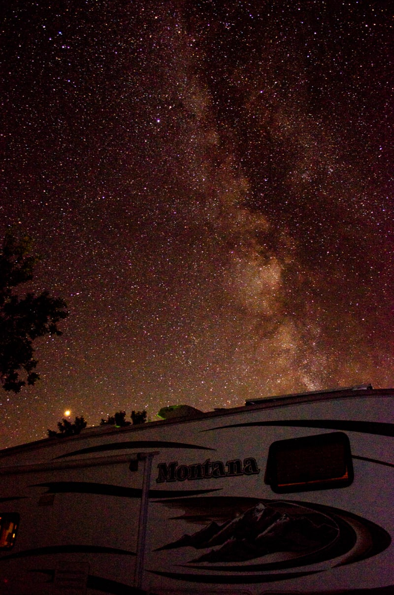 milky way galaxy above our rv