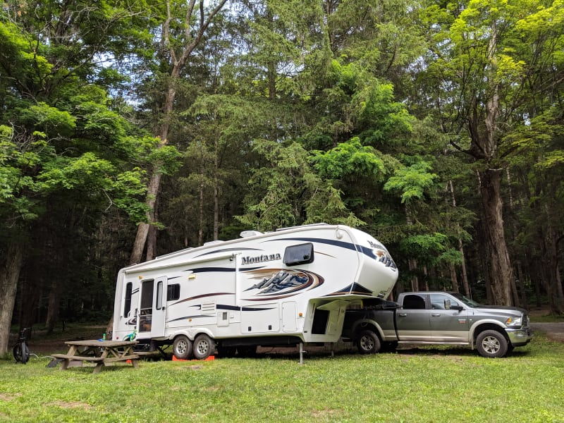 Our RV at Taconic State Park