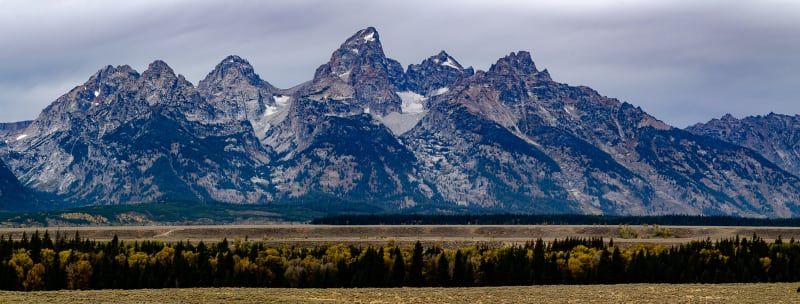 the cathedral group peaks of the teton mountain range