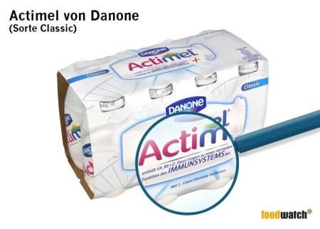 Actimel von Danone (Foodwatch)