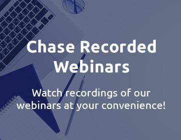 Chase - Checkout recorded webinars