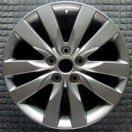 Kia Forte  All Silver w// TPMS 17 inch OEM Wheel  2010-2012 529101M360 592101M3XX