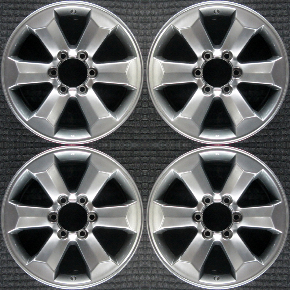 Toyota 4runner Hyper Silver 18 Oem Wheel Set 2006 To 2009 Ebay
