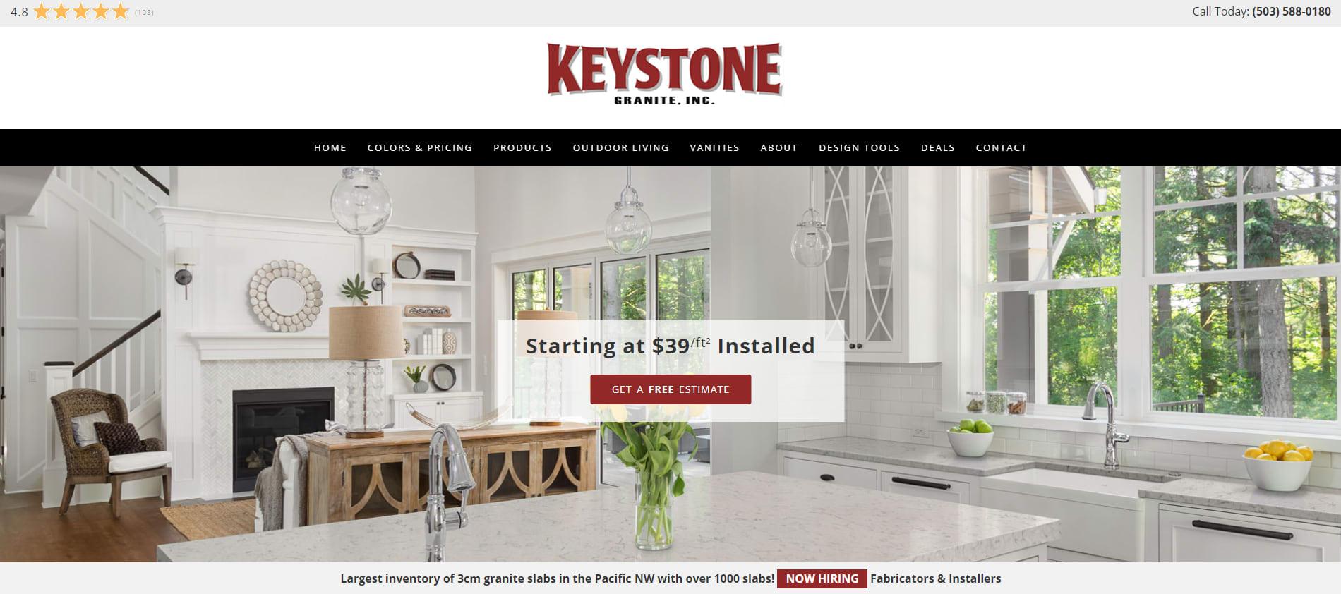 Keystone Granite Website – Salem, Oregon