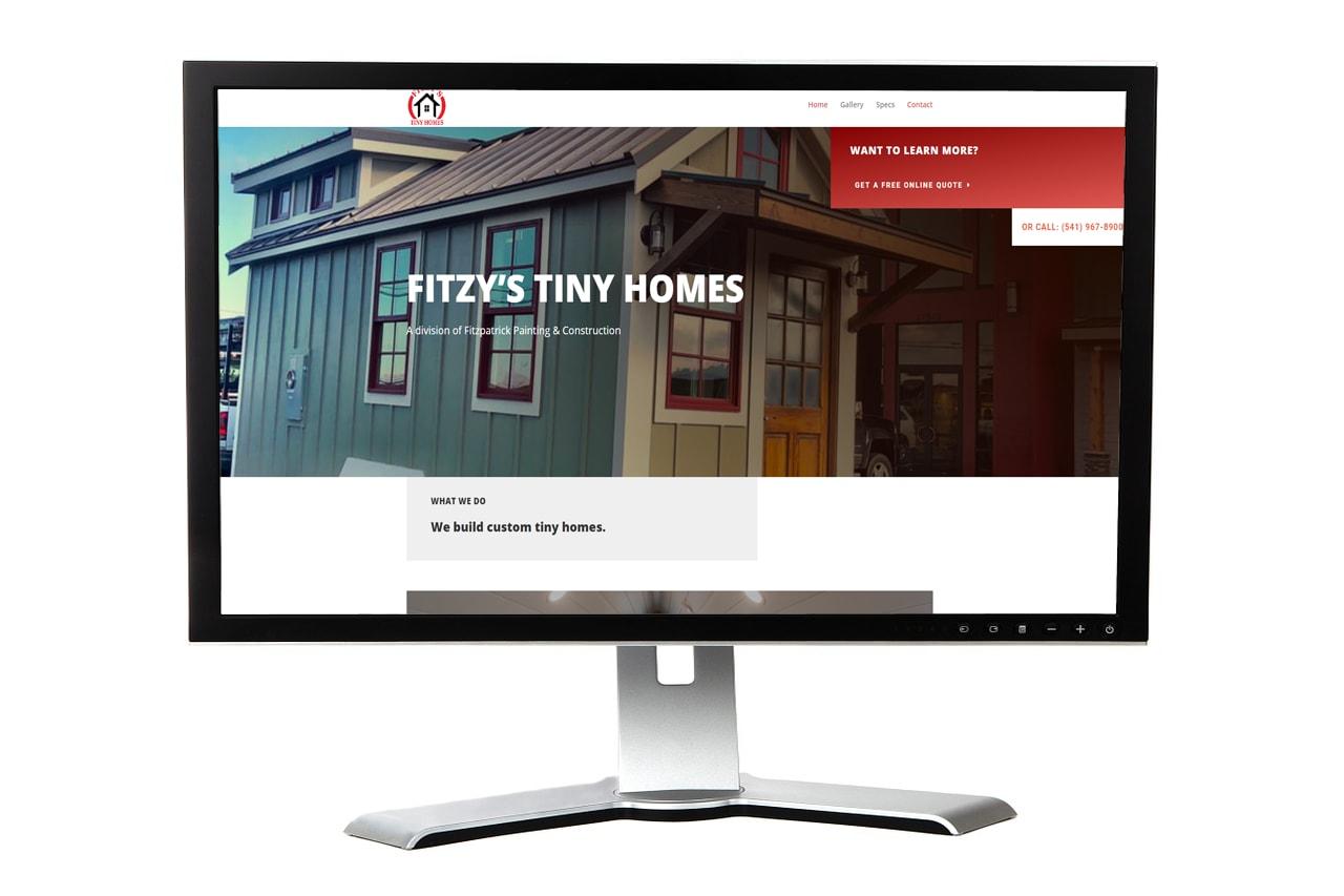 Fitzy's Tiny Homes Website – Albany, Oregon