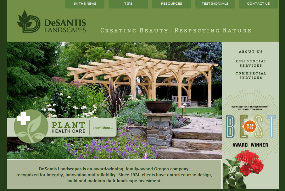 Salem Oregon Landscape Contractor Launches New Web Site