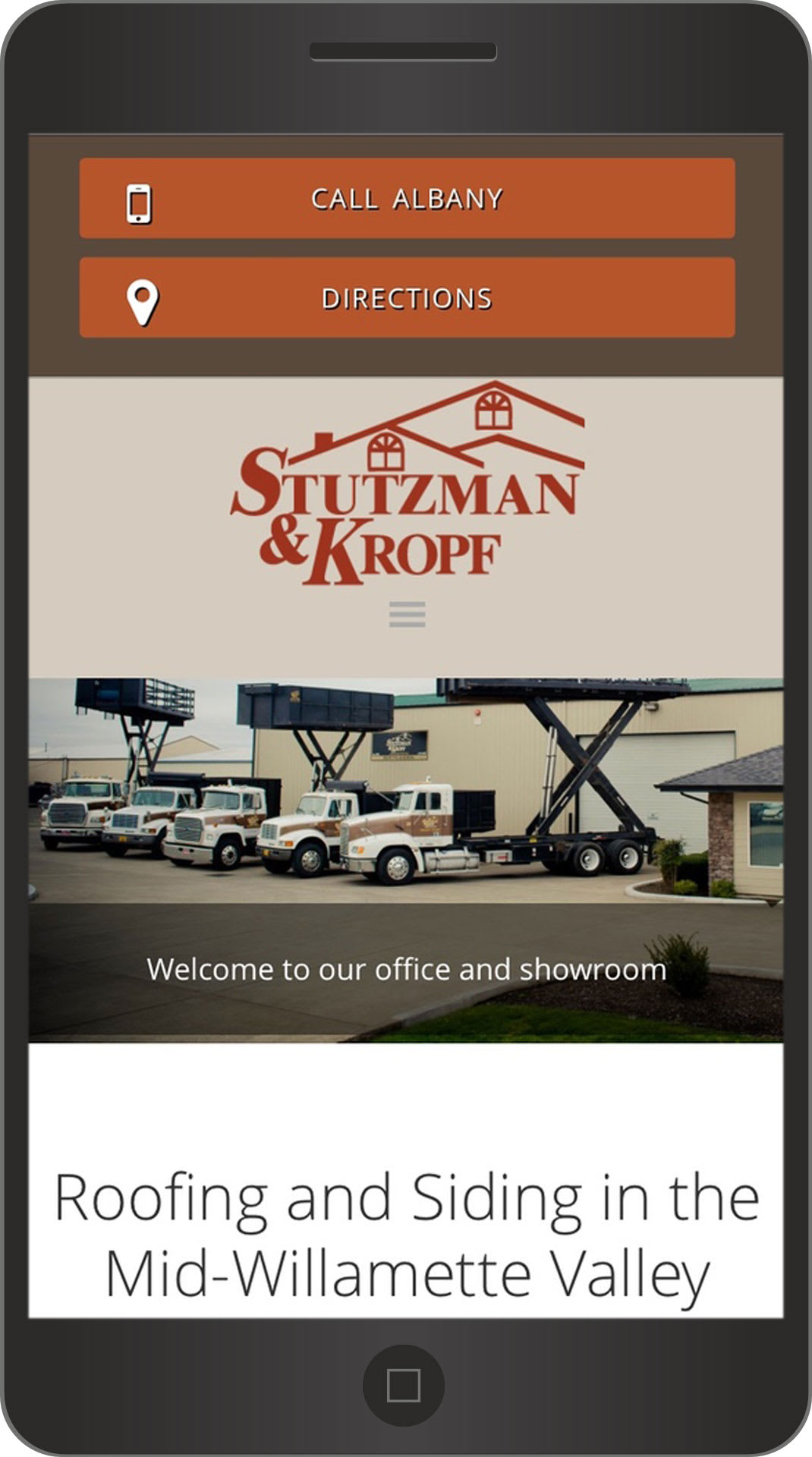 Willamette Valley Oregon Roofing Contractor Stutzman & Kropf Website