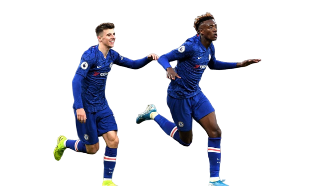 Tammy Abraham (Chelsea) celebrating winning goal at Emirate Stadium on Sunday