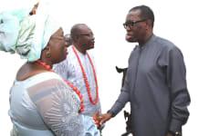 Hon. Gbubemi Hand-Shake With Gov. Okowa
