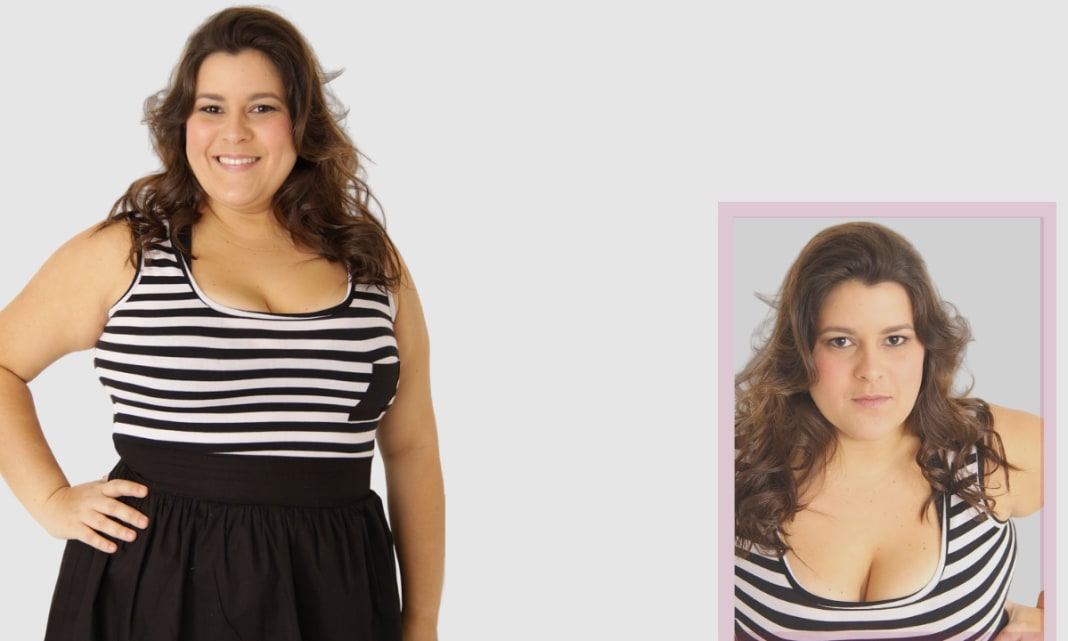 Apple Body Shape Lady Outfit