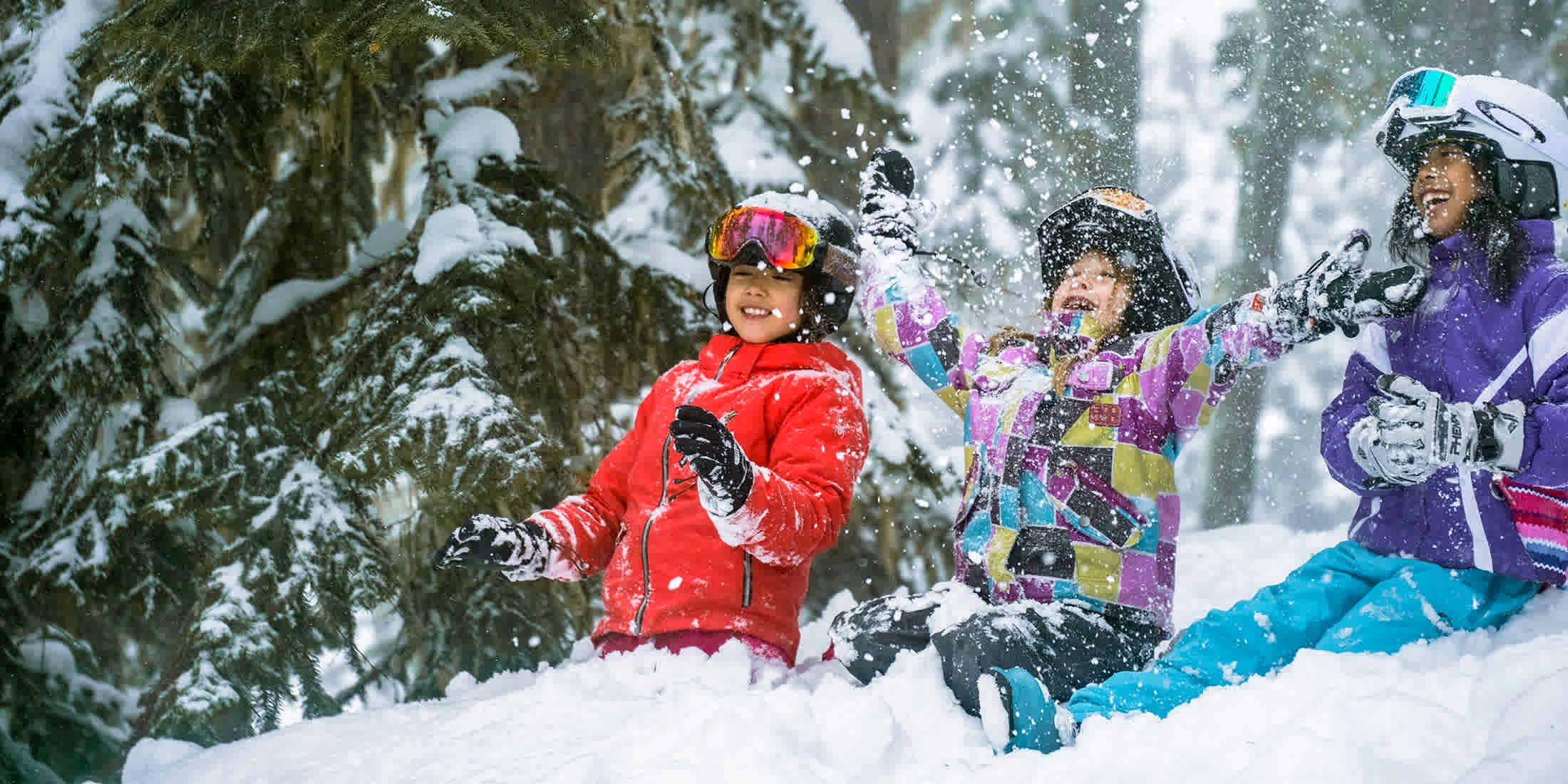 Children skiing at Whistler Blackcomb