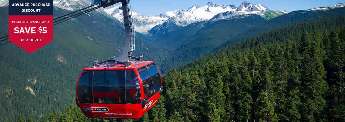 PEAK 2 PEAK Gondola Whistler in Summer