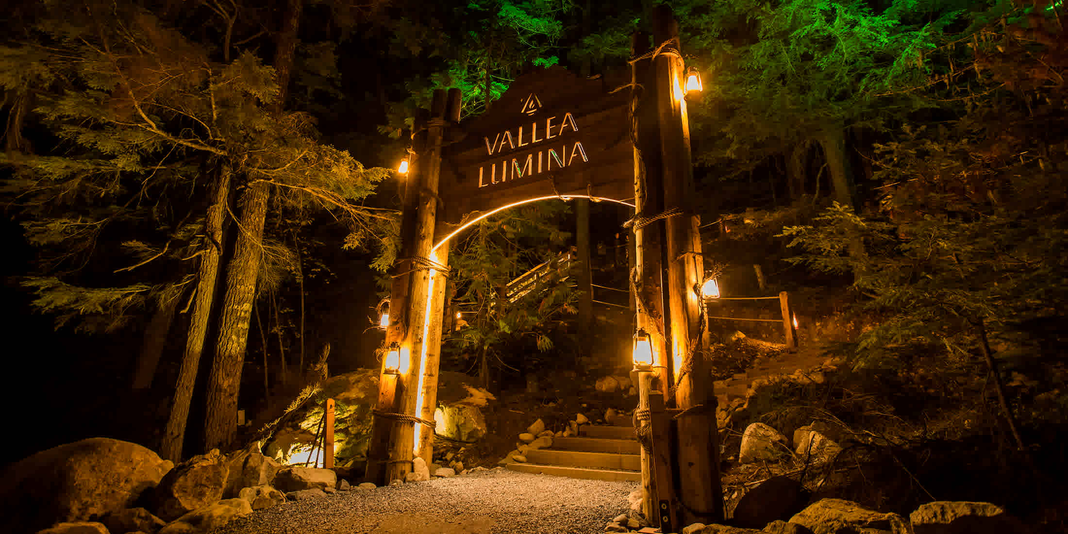 Vallea Lumina Whistler Light Show by Moment Factory