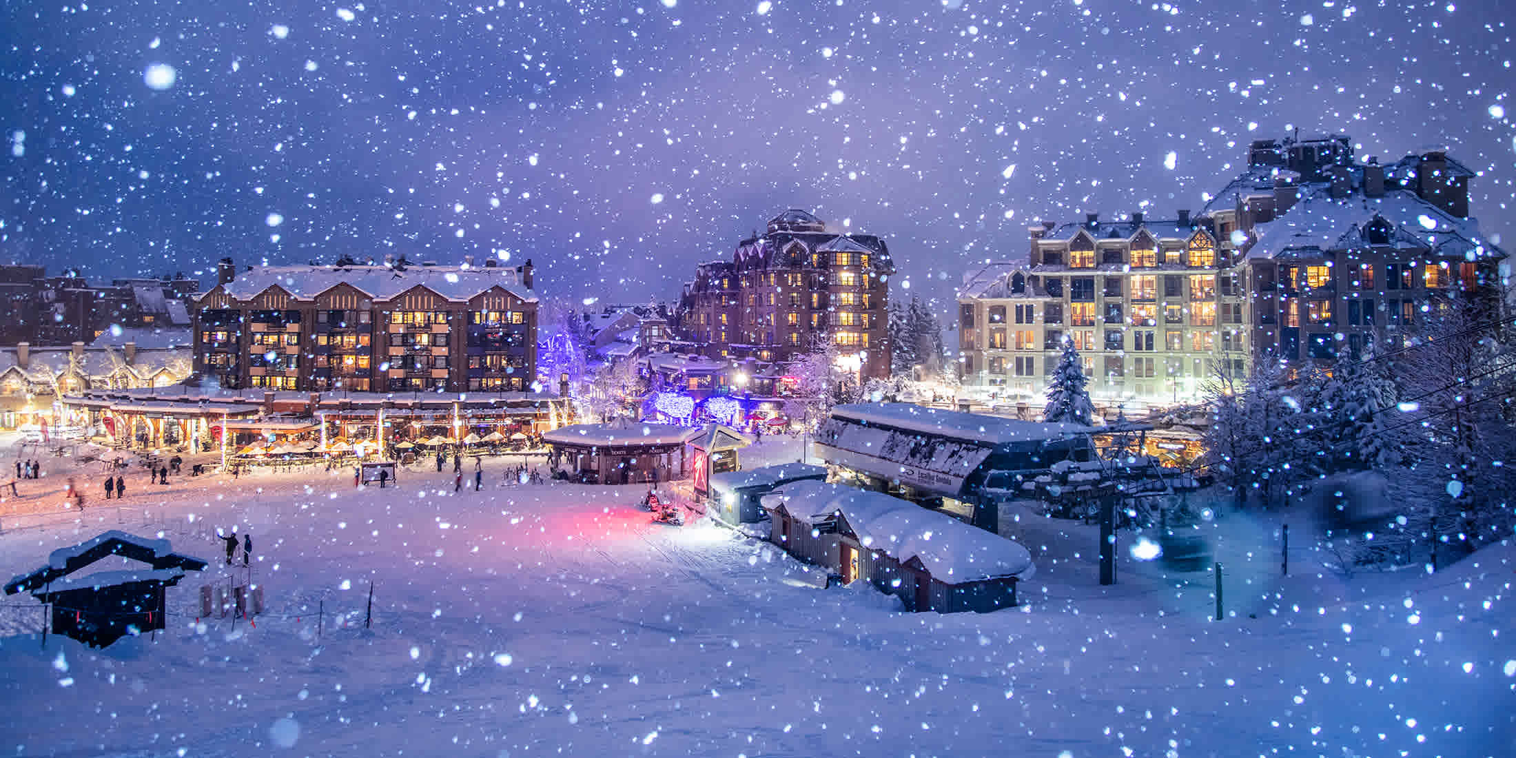 Whistler Village in the winter
