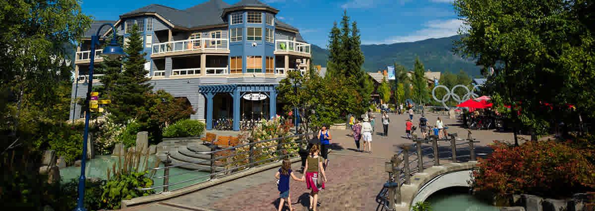 Whistler Village in the summer